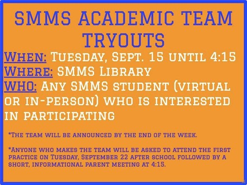 Academic team tryouts